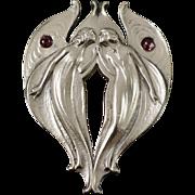 Phenomenal Gorham Sterling Fairy Buckle Pendant 1901