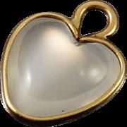 Victorian 14K Moonstone Heart Charm