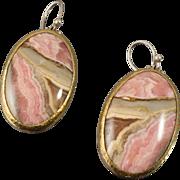 Gurhan Rhodochrosite Sterling 22K Gold Earrings