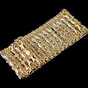 Immense 18K Solid Gold Wide Bracelet