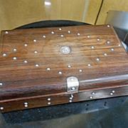 REDUCED Vintage William Spratling Sterling Silver Rosewood Domino Set