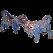 Pr Early 20th C Chinese Foo Dog Lion Terracotta Monochromatic Glaze