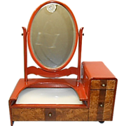 Vintage Japanese Lacquer Kyodai Vanity W Mirror Jewelry Box
