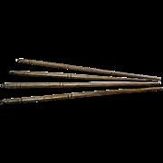 4 Chinese Asian Silver Chop Sticks Hallmarked