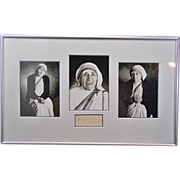 SALE Michael Collopy Framed Matted Photographs of Mother Teresa W Signature Autograph