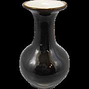 Old Chinese Porcelain Mirror Black Cabinet Mini Vase