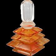 Van Teal Acrylic Lucite Sculpture Perfume Scent Bottle Factice