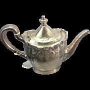 SALE Old Sterling Silver Coffee Pot Tea Pot Repousse Un Monogrammed