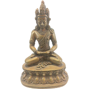 SOLD Antique Asian Bronze Buddha Avalokitesvara Kwan Yin Jay Ward Estate Tibetan Hindu