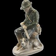 Royal Copenhagen Porcelain Figurine Young Hunter W Gun & Bird Dog C Thomsen