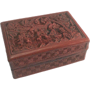 Old Chinese Cinnabar Box Owned By President Franklin Roosevelt First Lady Eleanor From The 195
