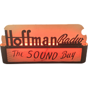 SOLD Art Deco Hoffman Radio Neon Advertising Lighted Sign Hoffman Electronic Corp