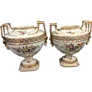 Pr Antique German Porcelain Urns Vases Helena Wolfsohn Dresden Germany