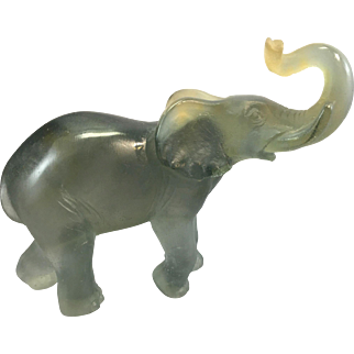Daum France Art Glass Elephant Pate de Verre French