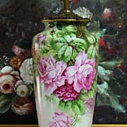 Limoges France Hand-painted Porcelain Lamp
