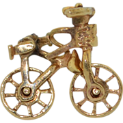 Articulated 14K Bicycle Pin Tie Tac