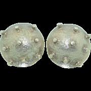 Sterling Silver Spike Orb Earrings