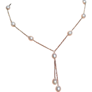 Stunning Sterling Silver & Fresh Water Pearl Negligee Necklace