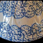 Spongeware ,Blue and White Bowl