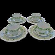 Matched, Antique, Design Spatterware, Dish Set
