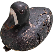 Signed Duck Decoy, Cork Body,Glass Eyes