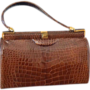 Lucille de Paris Vintage Alligator Handbag 1956