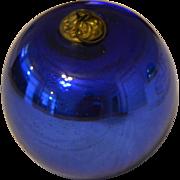 German Kugel ,Large, Blue ,Glass, Christmas Ornament