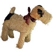 Vintage Mohair Toy Dog