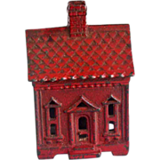 Penny Bank Small Cast Iron House c.1900