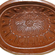 Redware Food Mold, Copper Colored Glaze, early 1900's