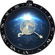 West Clox Art Deco Celestial Astronomical Clock