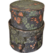 Wallpaper Hat Boxes 19thc