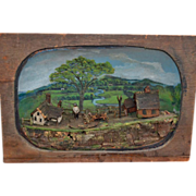 Folk Art Farm Diorama Early 1900's