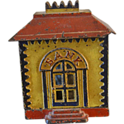SOLD Cast Iron Vintage Penny Bank ,Bank