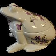 Hammersley, Member of Spode Group, Frog Trinket Box, Violets, Bone China