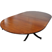 """Vintage Baker Mahogany Dining Table Oval w Leaves 92"""" Long"""