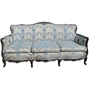 Antique Louis XV French Style Sofa, Carved Mahogany, Ca 1900