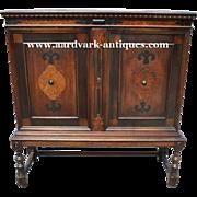 """Antique Berkey & Gay Cupboard Blind Door China Cabinet, 52""""H Ca 1910"""