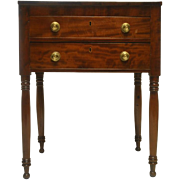"""Antique Federal Period 2 Drawer Side, Work Table, 29""""H Circa 1810"""