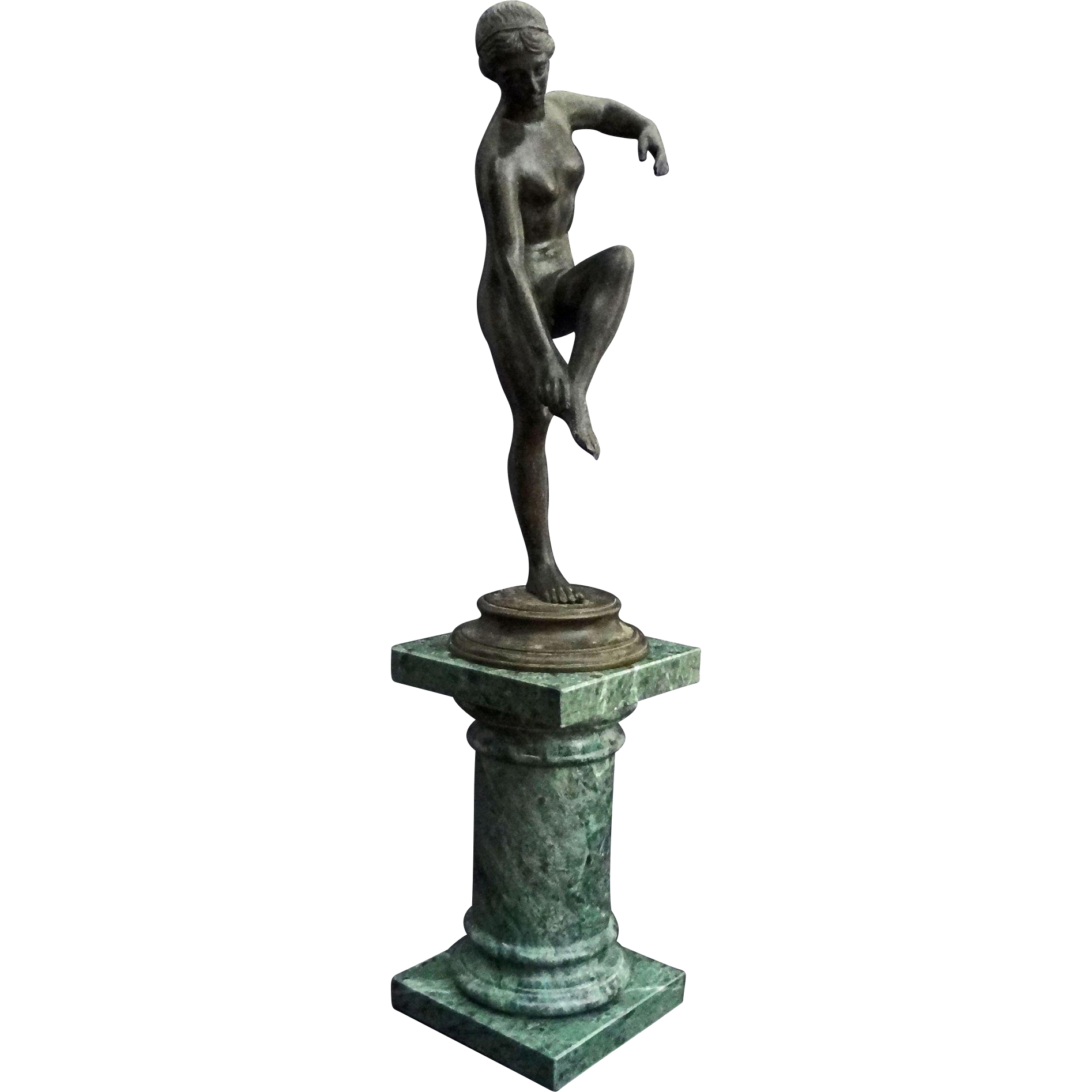 Classical Style Bronze Statuette of Aphrodita, Greek Goddess of Love