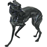 Austrian Bronze Hound Dog Figure Sculpture - c. 20th Century, Austria