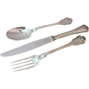 Christofle Port Royal Pattern Knife, Fork and Spoon - 20th Century, France