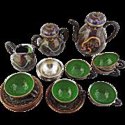 Japanese Cloisonne Tea Set Meiji Period Signed - 1868 to 1912, Japan