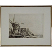 """The Windmill"" Etching by Durand after Rembrandt - c.19th/20th Century, France"