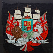 Royal Coat of Arms of Great Britain Embroidered Heraldic Banner