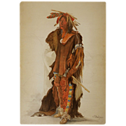 Sioux Warrior Print after Karl Bodmer - 20th Century, USA