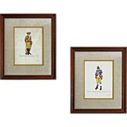 SOLD Watercolor Uniform American Revolution Vermont Regiment Soldier
