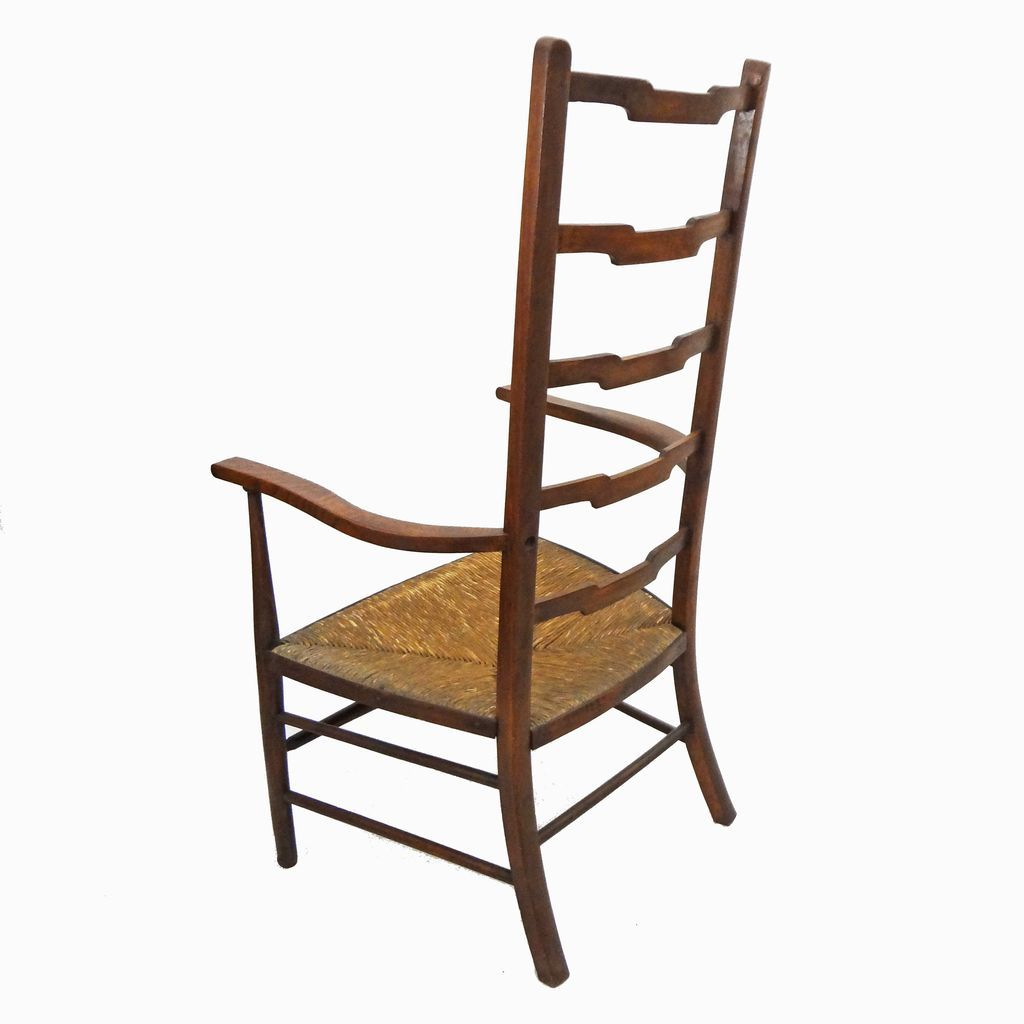 Arts And Crafts Ladder Back Chair