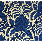 14 Yards Luxury Fabric Brunschwig & Fils Bromelia Resist Cotton Vintage Batik Style - c. 1976,