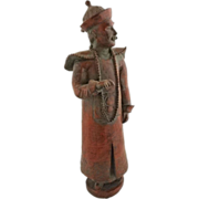 "15"" Tall Monochrome Figure of Chinese Man / Imperial Official  - 20th Century, China"